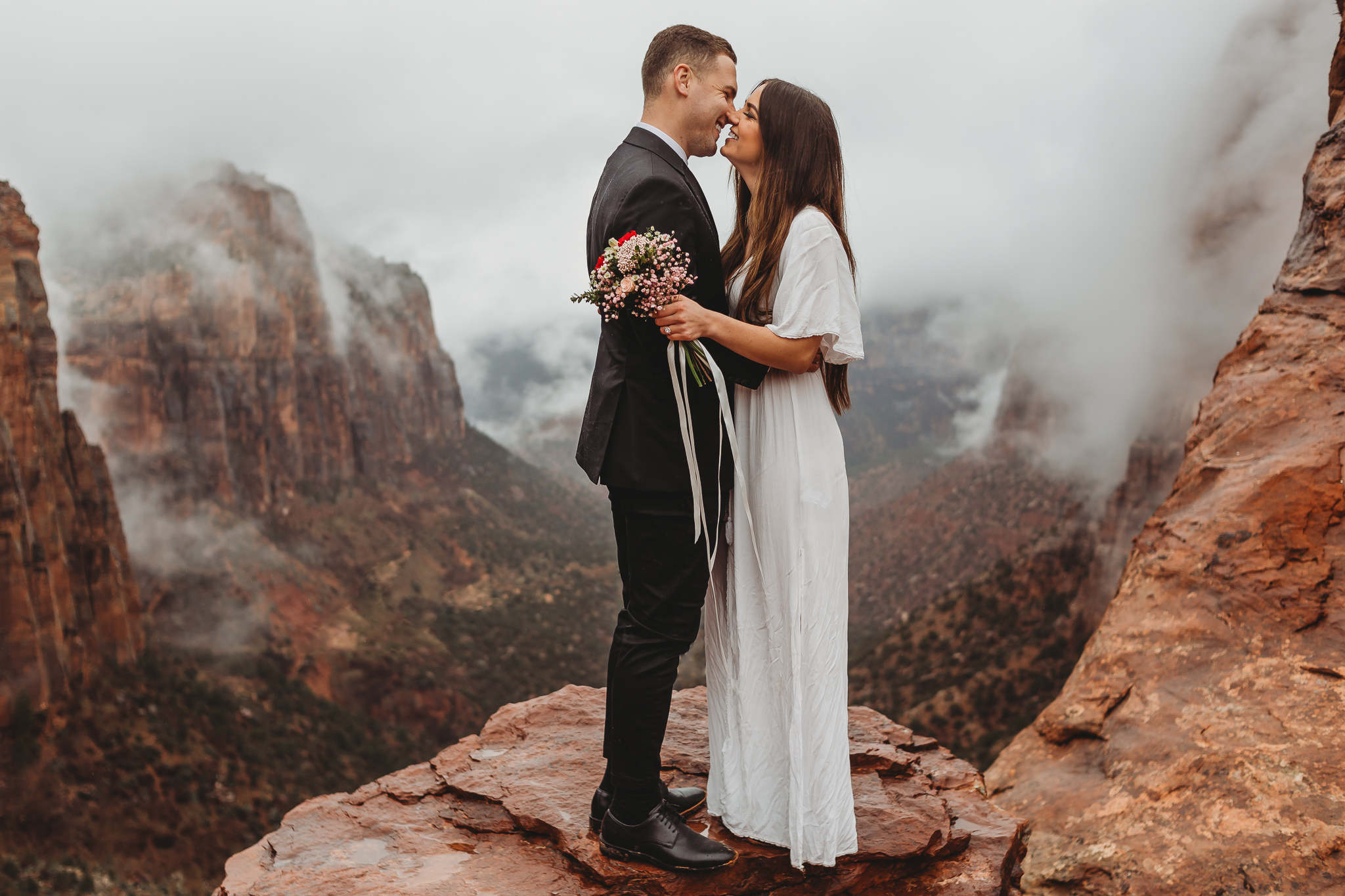 """""""SO FREAKING AMAZING!"""" - """"I loved the hike Aly and Justin brought us on— our pictures turned out so much better than I ever would've imagined. Their prompts brought out real emotion, the pictures are completely authentic, and the tones and edits that they bring out in the photos are so stunning. We love every single picture we got back!""""Bri + Ethan M."""