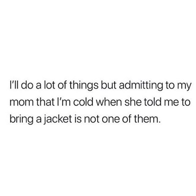 I learnt this lesson one too many times. Maybe this is always why I pack too much now? (Weather forecast: 0% chance of rain. Me: I'll take a rainjacket, umbrella, change of clothes, towel just in case). Thanks mum your the real MVP 💕 @imbeingsarcastic