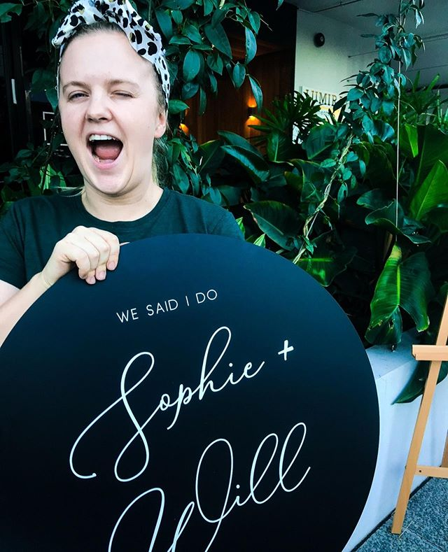 My best attempt at winking 😉 And for all the haters there is a clear definition of one eye open and one eye closed. ⠀ ⠀ [Sophie & Will]⠀ 60cm Matte Black Circle + White Text⠀ ⠀ ⠀ #blackweddingsign #roundweddingsign #wesayido #ido #blankspacecollective #brisbaneweddings #eventsigns #hobartwedding #tasmaniawedding #perthweddingsign ##weddingsign #weddingwelcomesign #brisbanecreatives #creativepreneur #creativelife #sydneywedding #weddingstylist #weddingday #bridetribe #eventdecor #eventstylist #eventplanner #weddingplanner #weddinginspo #eventinspo #weddinginspiration #whitemagazine #hellomay ⠀