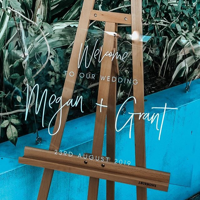 [MEGAN + GRANT]⠀ ⠀ Welcome to our wedding 🥰⠀ ⠀ #weddingsigns #eventsigns #brisbanesigns #clearweddingsigns #perspexweddingsign #weddingsigninspo #weddingsigndesign #weddingwelcome #blankspacecollective #brisbaneweddings #eventsigns #weddingsign #weddingwelcomesign #brisbanecreatives #creativepreneur #creativelife #sydneywedding #weddingstylist #weddingday #bridetribe #eventdecor #eventstylist #eventplanner #weddingplanner #weddinginspo #eventinspo #weddinginspiration #whitemagazine #hellomay