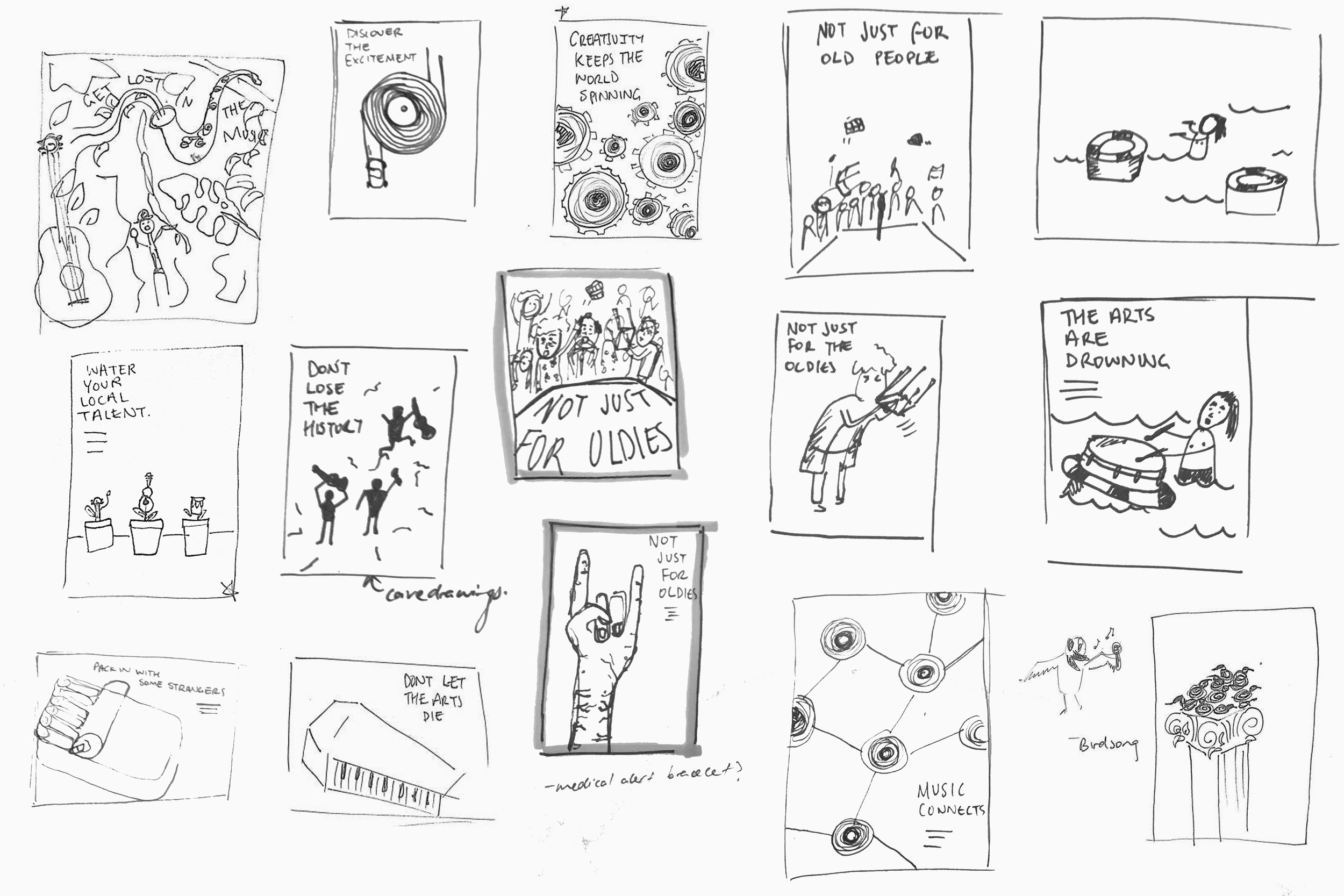Rapid ideation through quick thumbnailing.