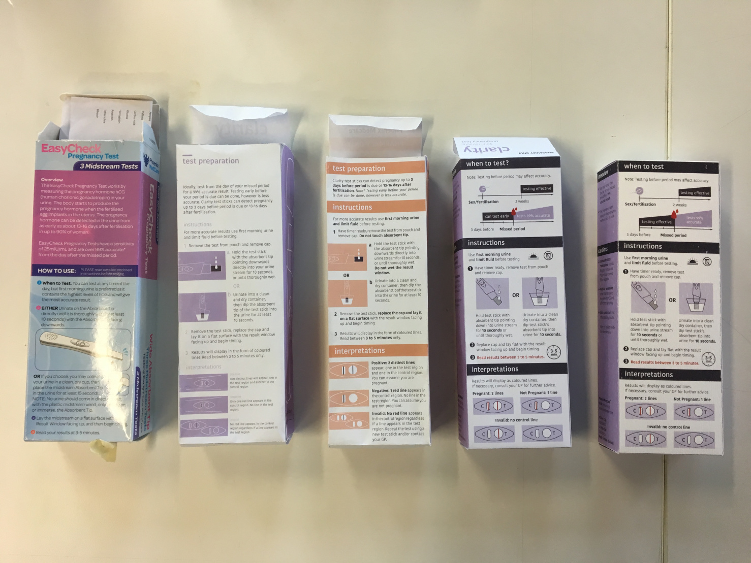 Evolution of prototypes from the original packaging to our redesigned final.