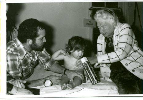 Robert Toporek with Dr Rolf Shira, 1978