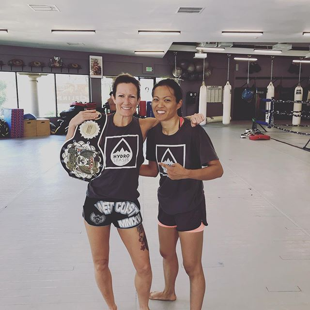 You are who you surround yourself with. We train with Champions. We train with Warriors. We never quit. And rain or shine, we ALWAYS show up. . #champishere #fighters #athlete #muaythaigirls #hydrostasis #weightcut #hydrationmonitoring #championshipmindset