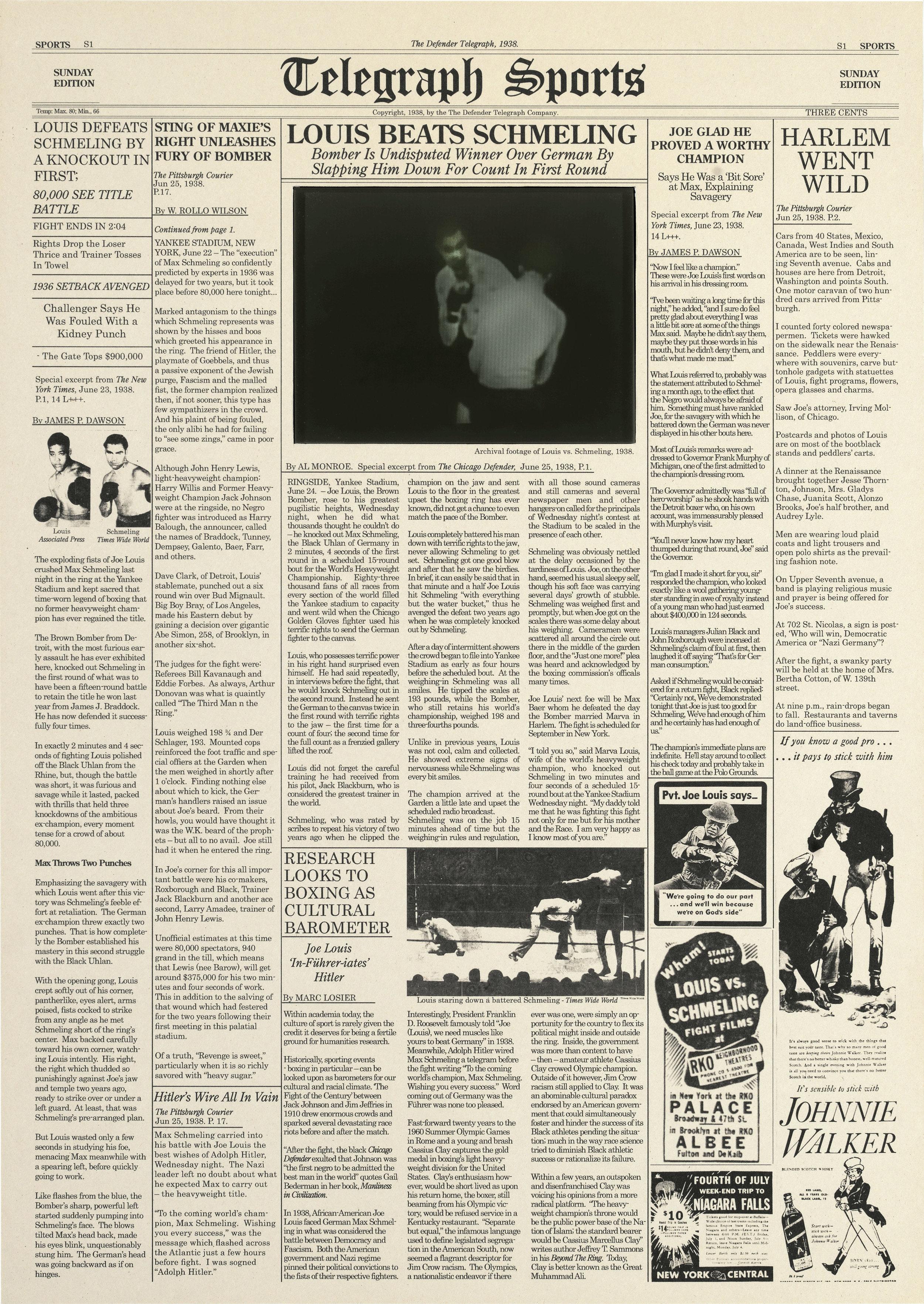 The Defender Telegraph 1938, 2010