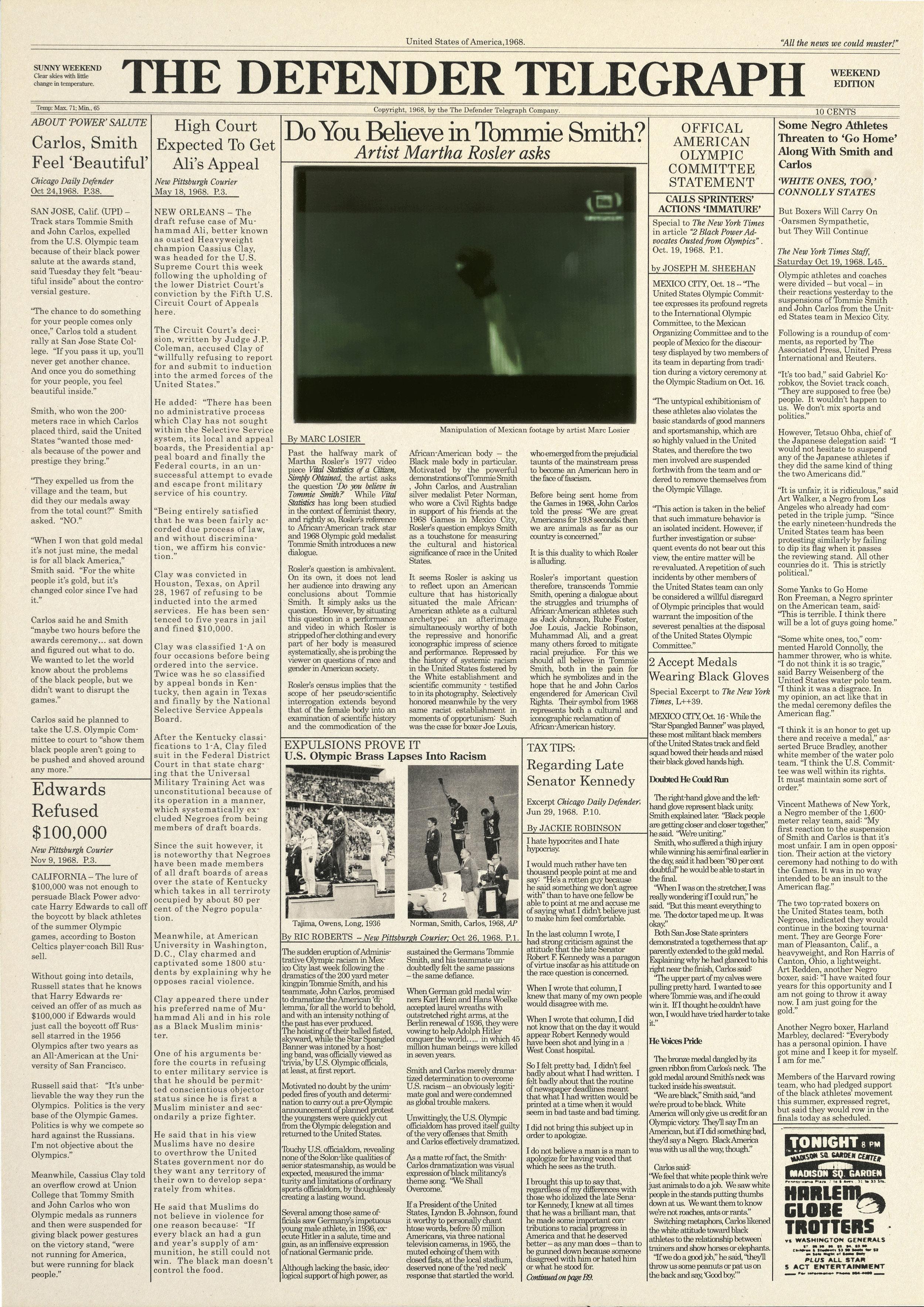 The Defender Telegraph 1968, 2010