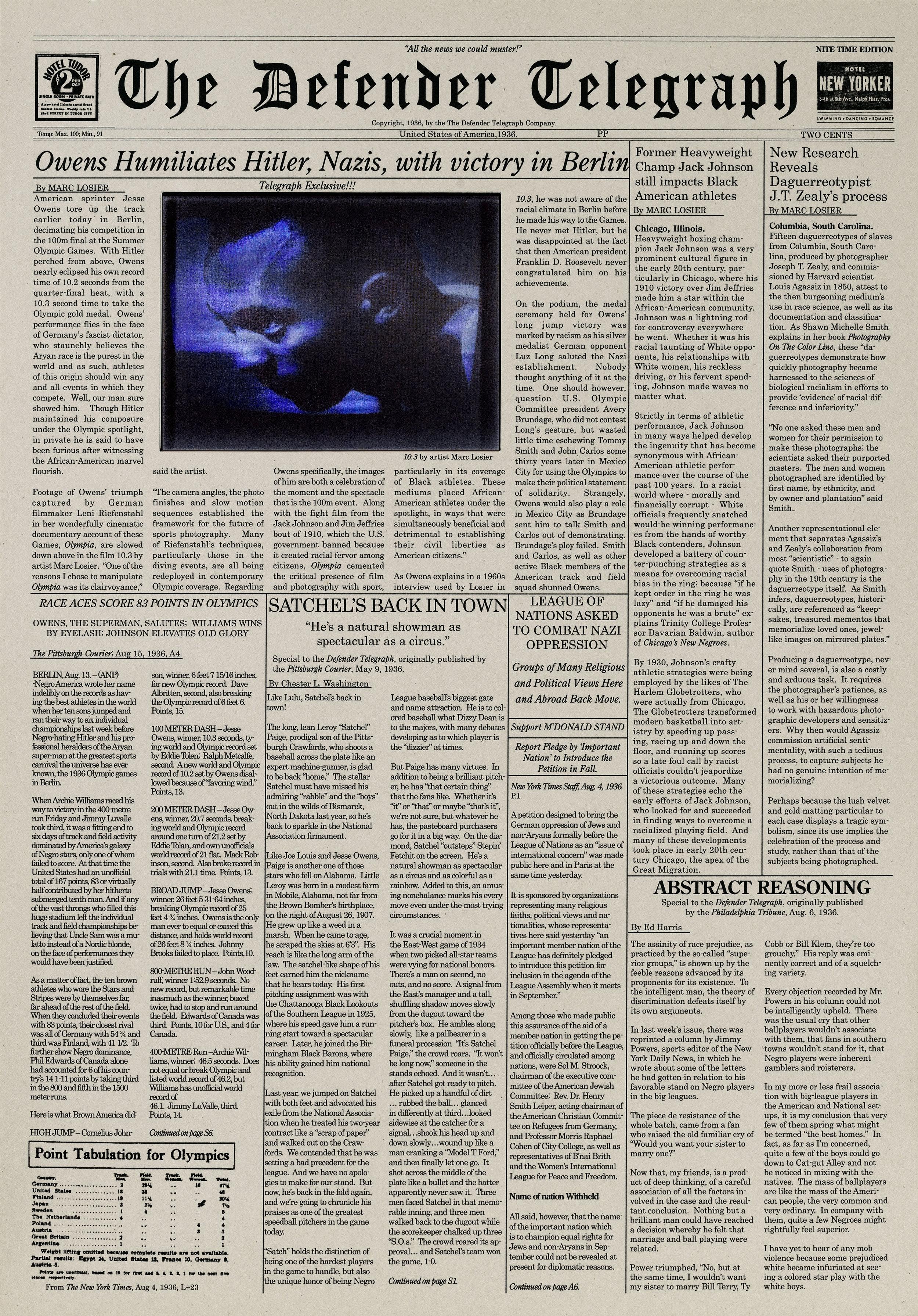 The Defender Telegraph 1936, 2010