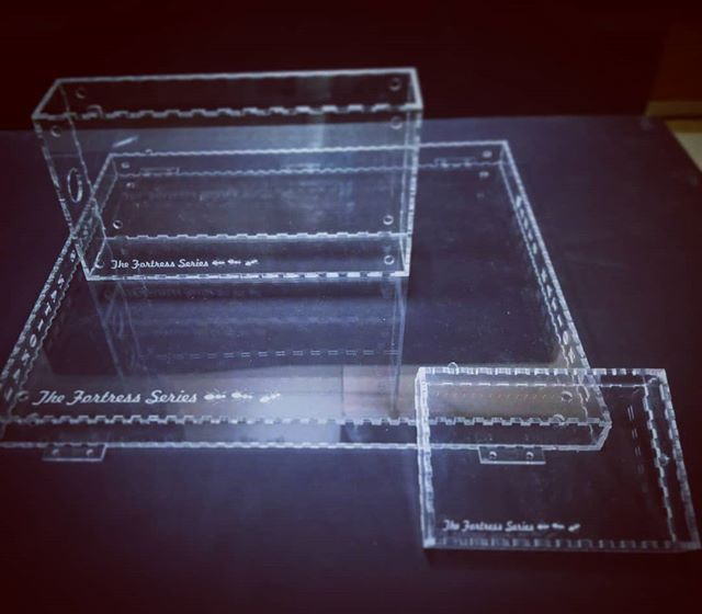 Doing some really cool acrylic boxes that can be customized to any need.  These ones specifically are going to be turned into ant farms from our good friends over at @antsnational!  We do it all!  #antfarm #ants #ant #boxes #acrylic #clear #tbt #animals #insects #bugs