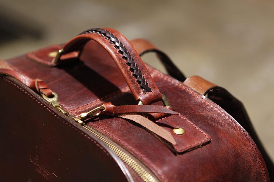 Braided Handle - Double Zipper Close