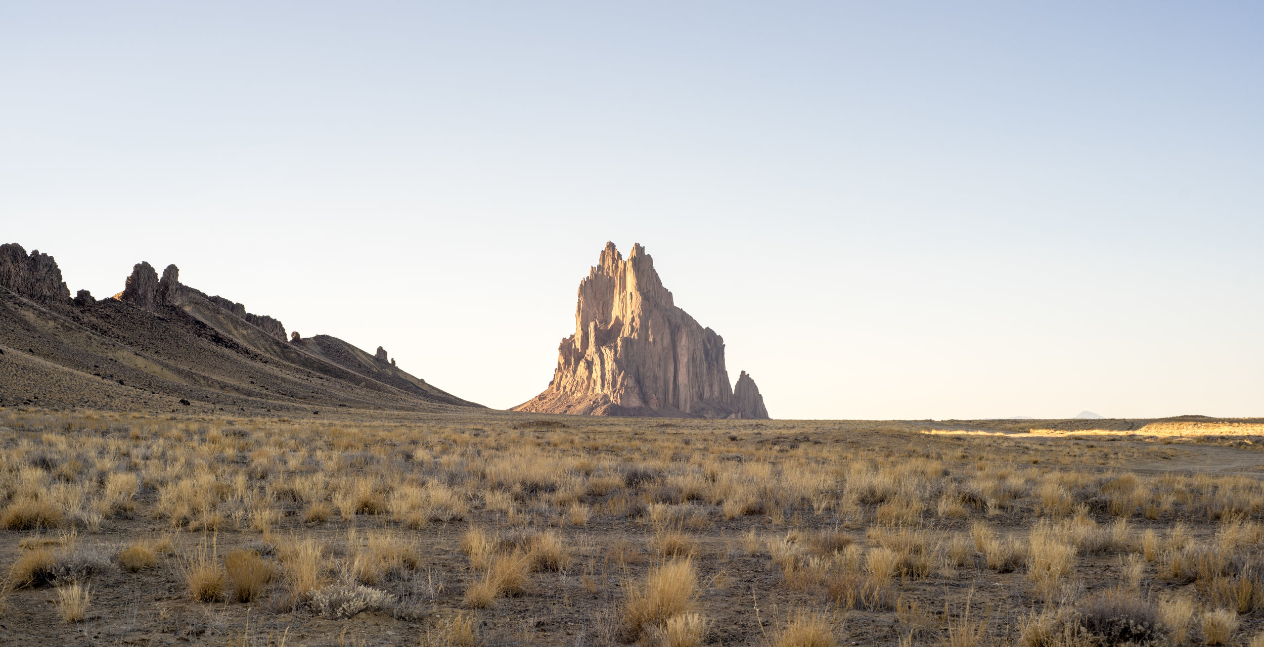 Stunning beauty of Shiprock from a little over 2 miles away. The decision to watch the sunset from a ridge overlooking the monolith was the best decision we made for that trip.