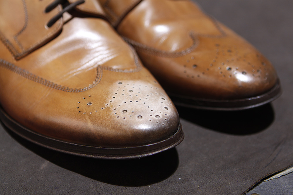 Shoe Restoration - Last week, a gentleman came to see me in our Studio & he brought his favorite shoes. This is what happened in his own words.