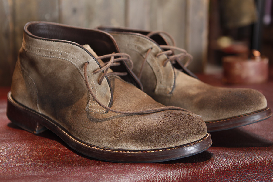 """SANDASTing on Boots - You have a brand new pair of your favorite shoes & feel they lack in """"Character""""? If so, let us help you with Patina."""