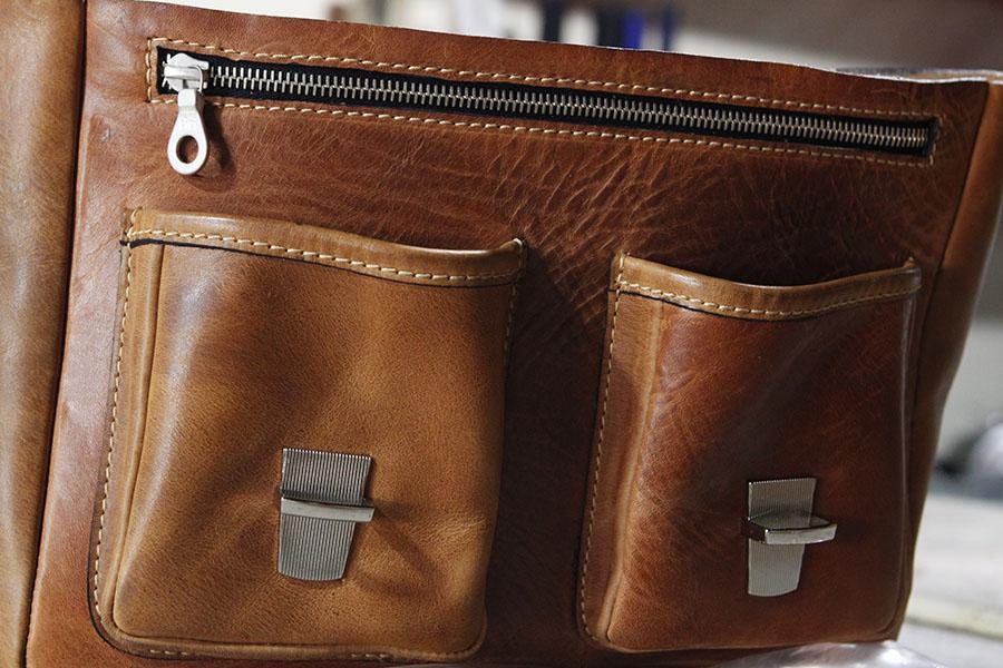 Thiri's messenger bag - Bespoke Leather