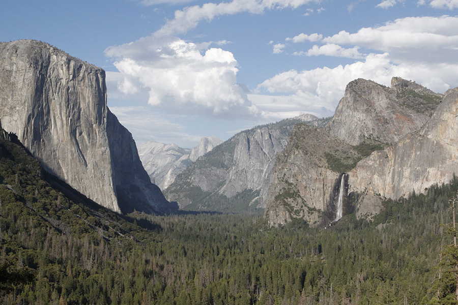 1st view of half dome.