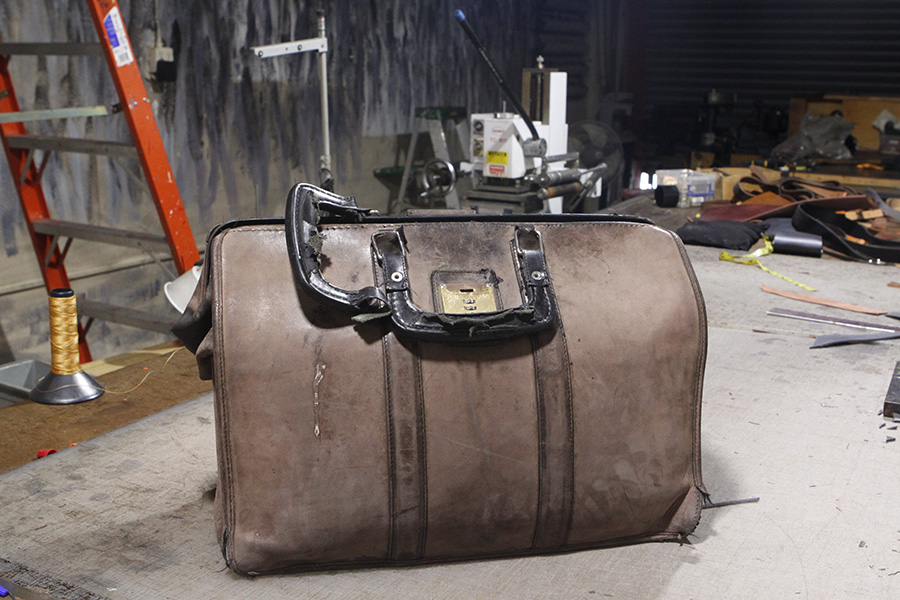 Restoration - When Yona visited our Studio for the 1st time and showed me her husband's briefcase, We had suggested that perhaps it was a time for its retirement and it would simply be best to give it a conditioning and keep it in their study.