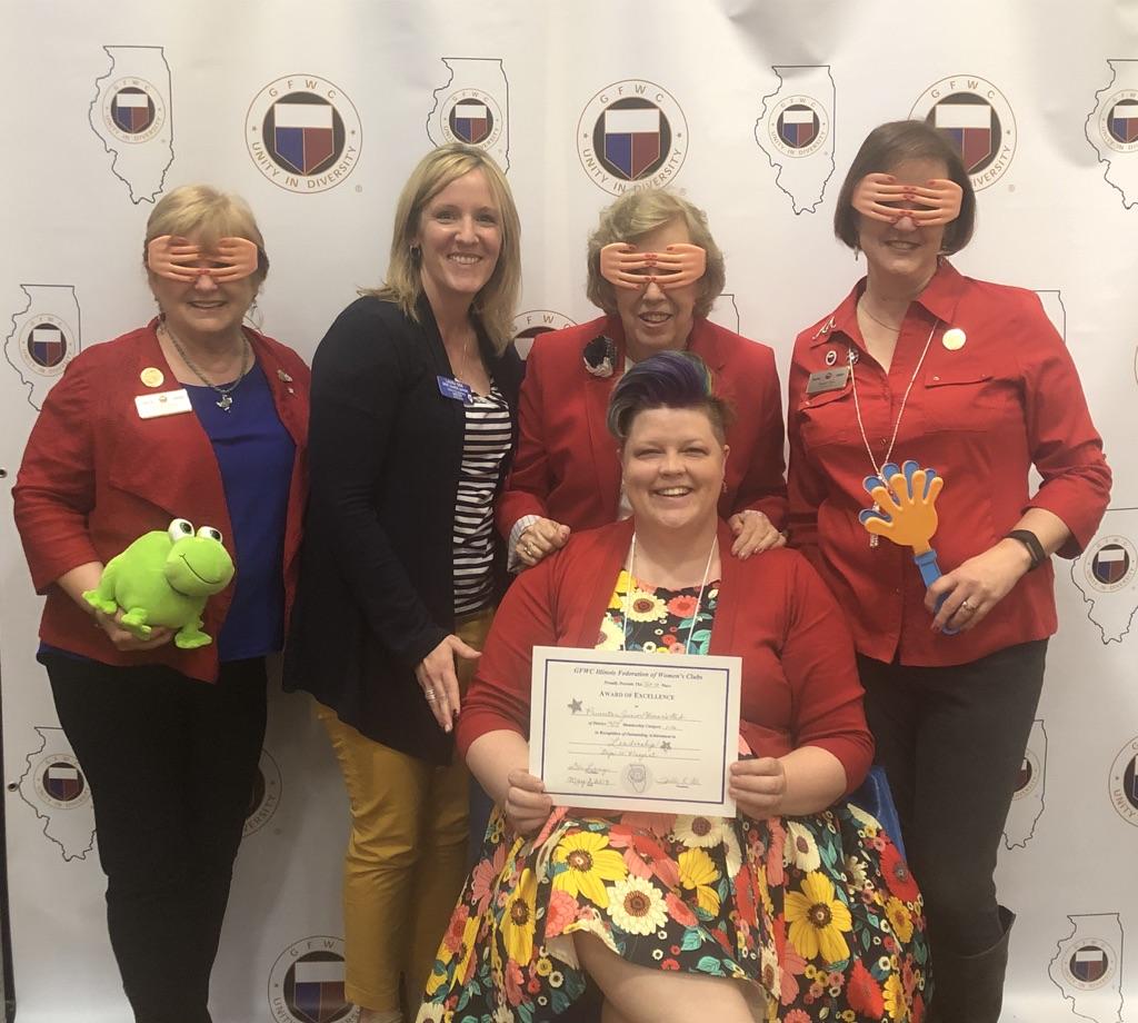 Accepting an Award for Princeton Junior Woman's Club