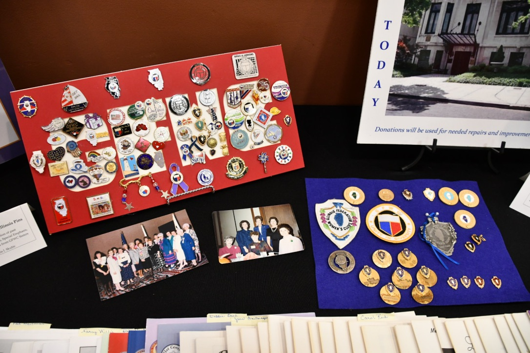 This is the pin collection of GFWC Illinois Past President Phyllis Skubic.