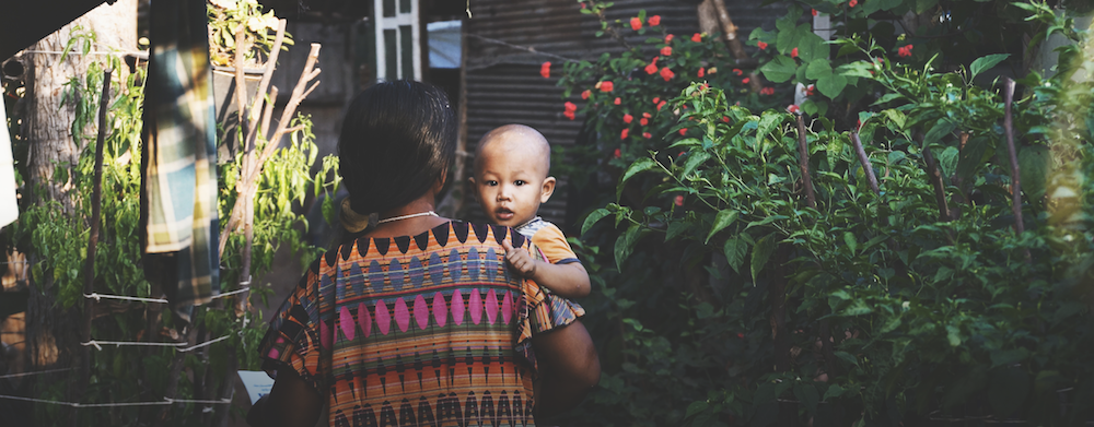 Mother & Child at coffee plantation