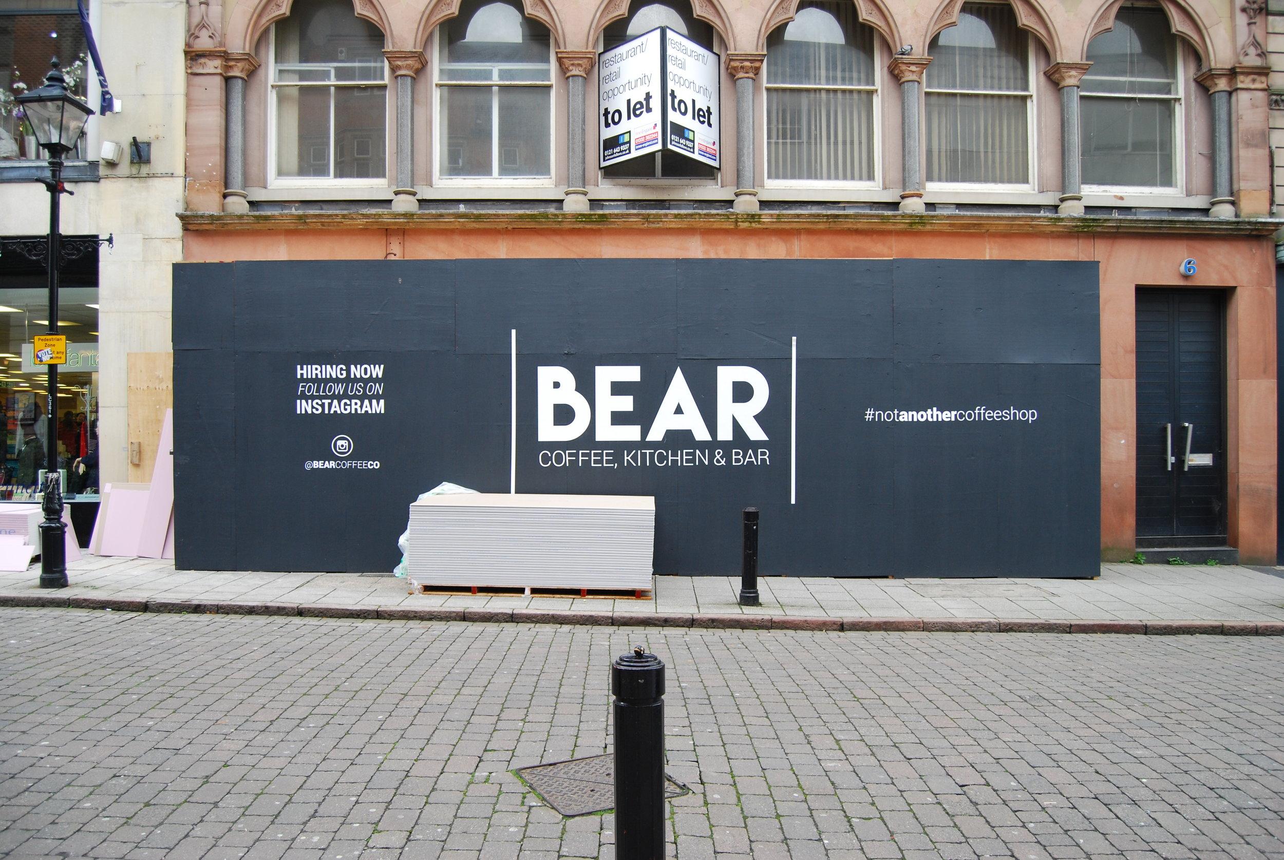 BEAR Derby hoarding