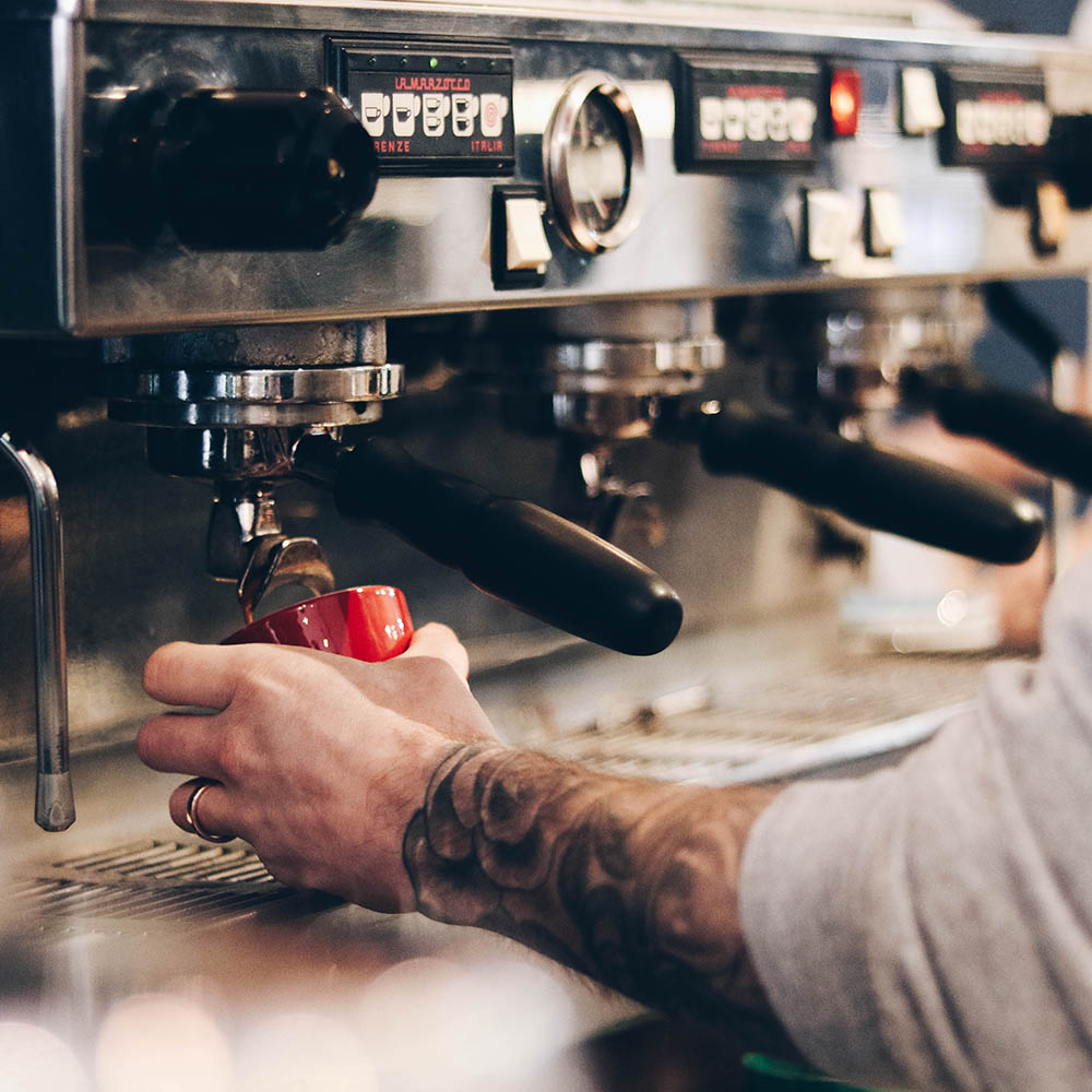 Barista working at BEAR Uttoxeter