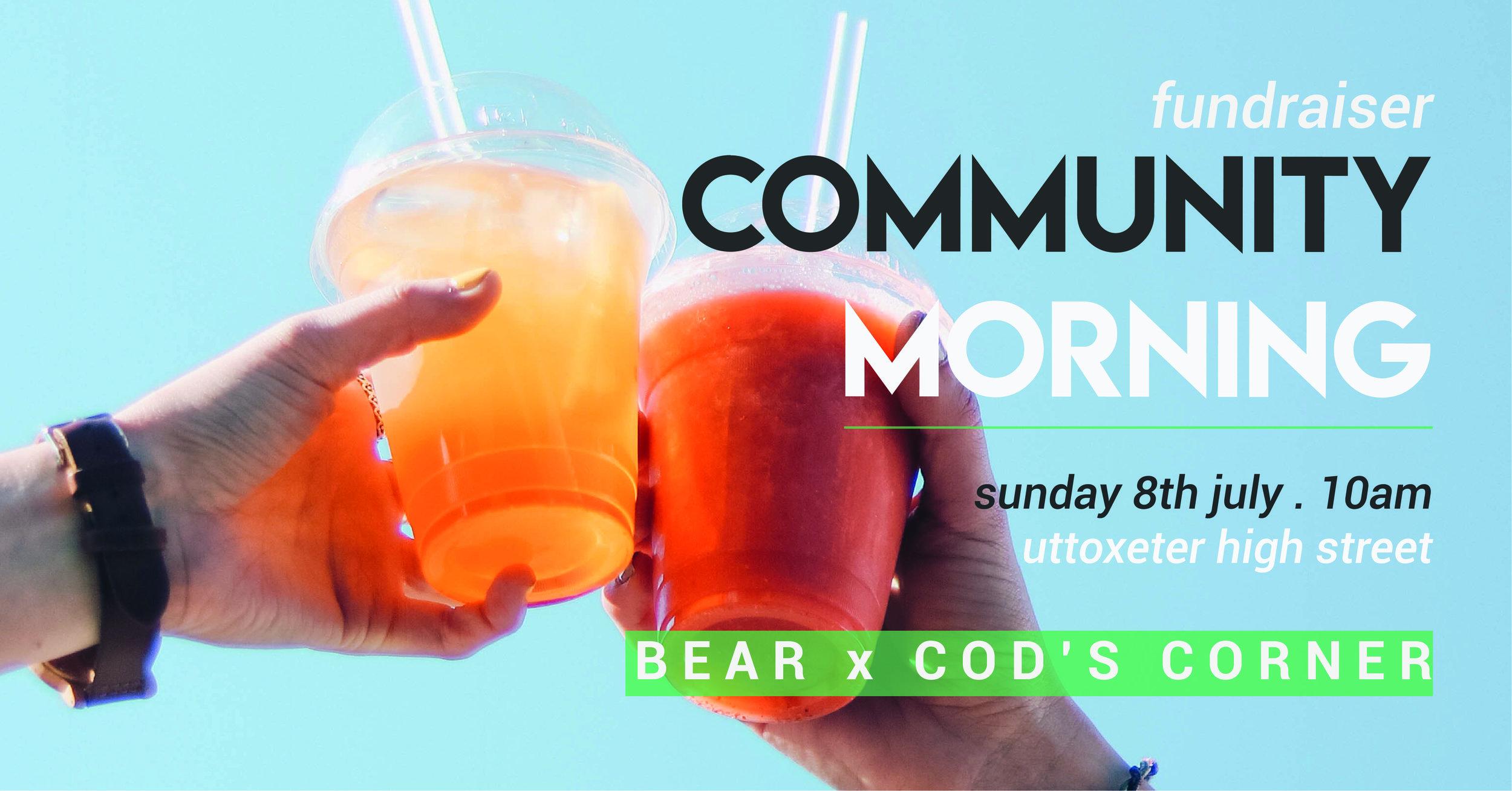 Community Morning promo banner
