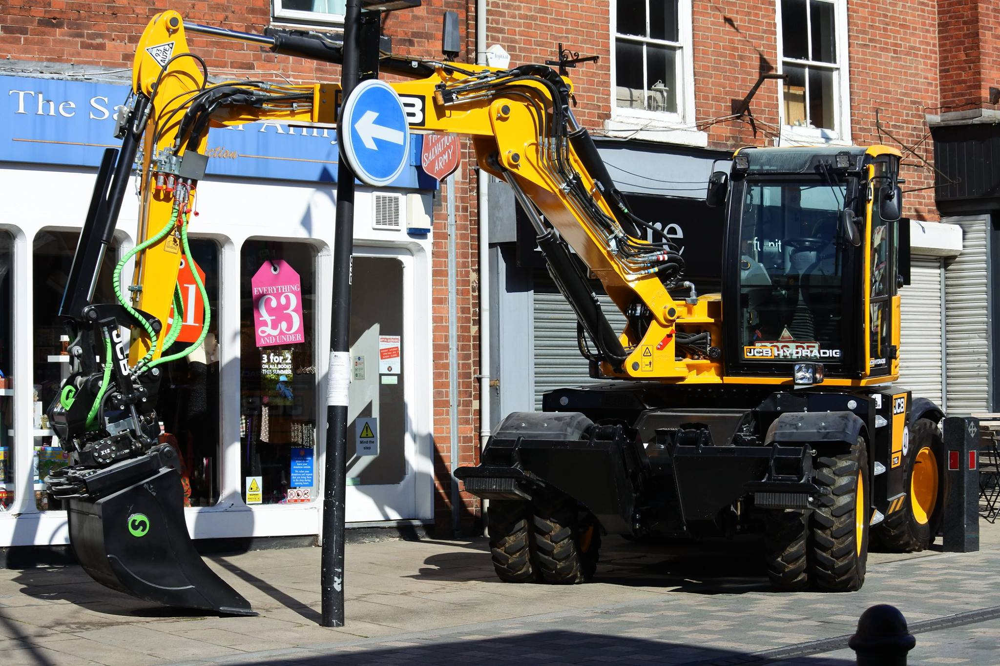 JCB on Uttoxeter High Street