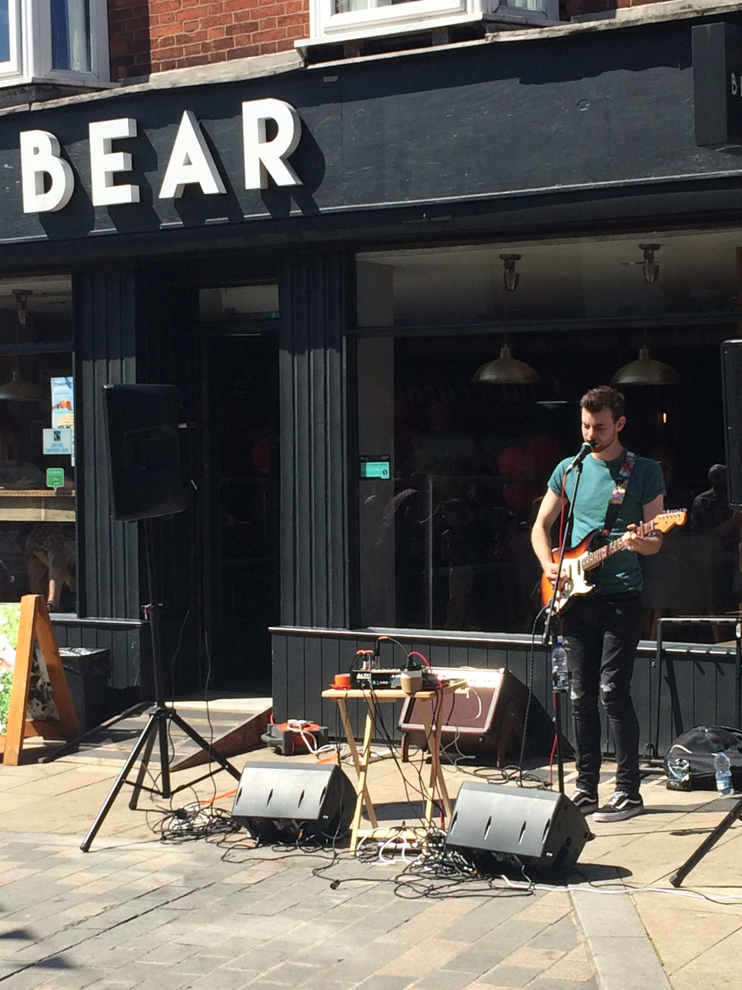 Live music outside BEAR