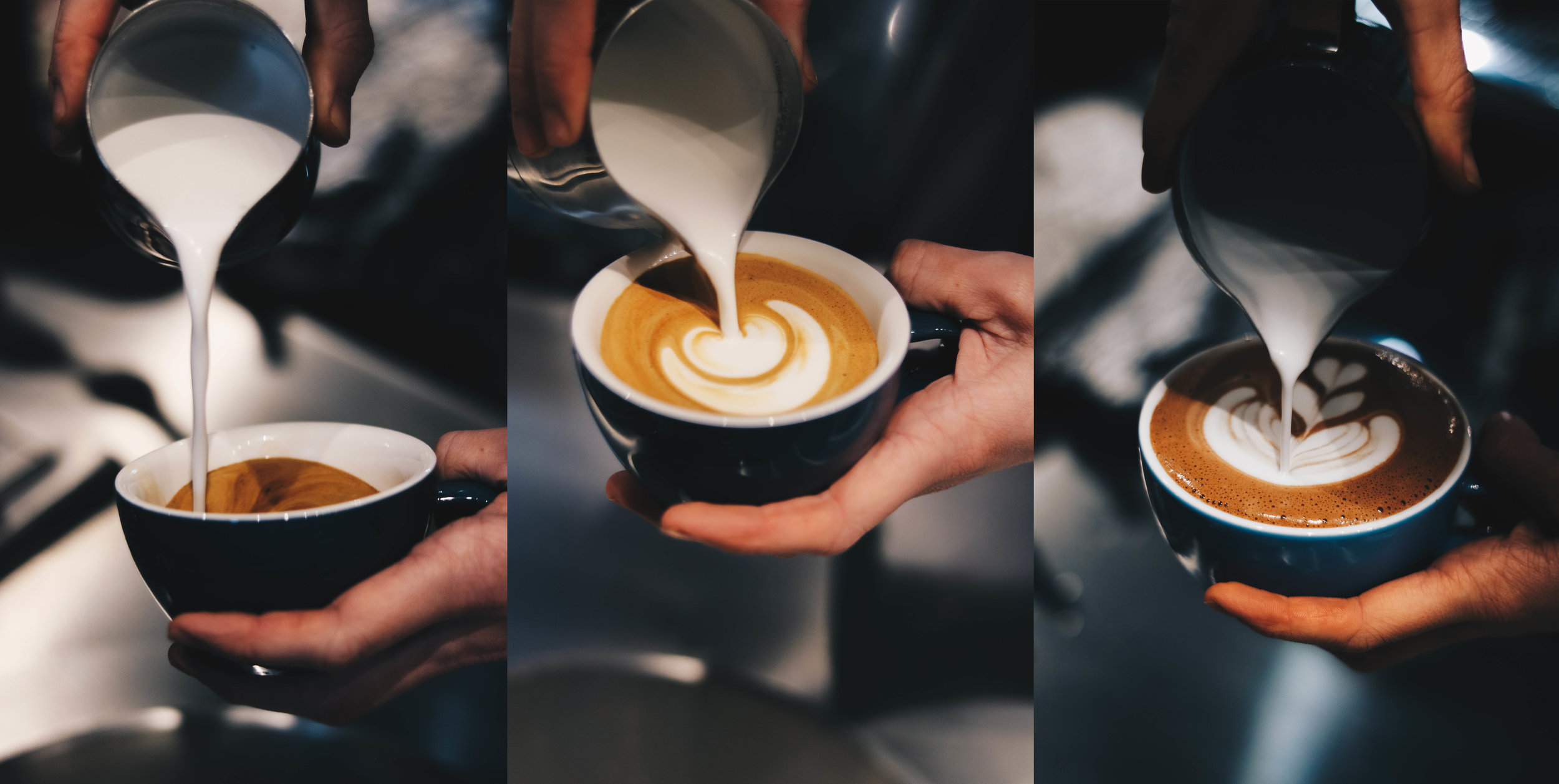 Latte Art pouring banner