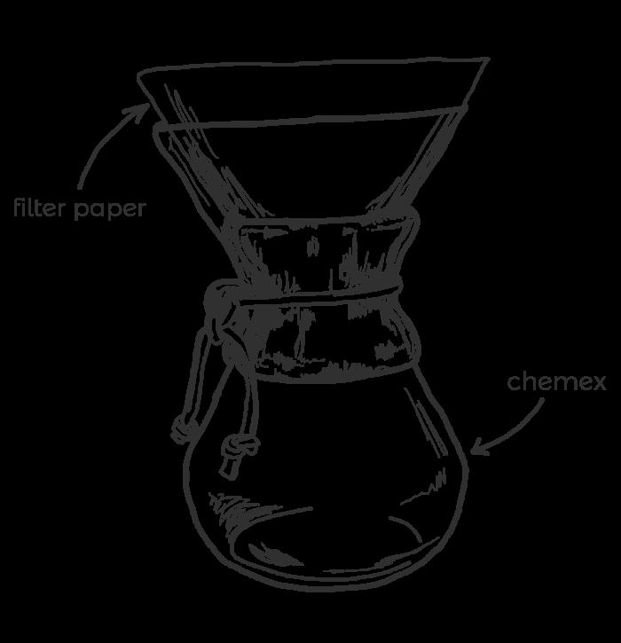 Chemex Line Drawing