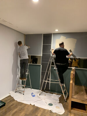 BEAR Fitzrovia being painted