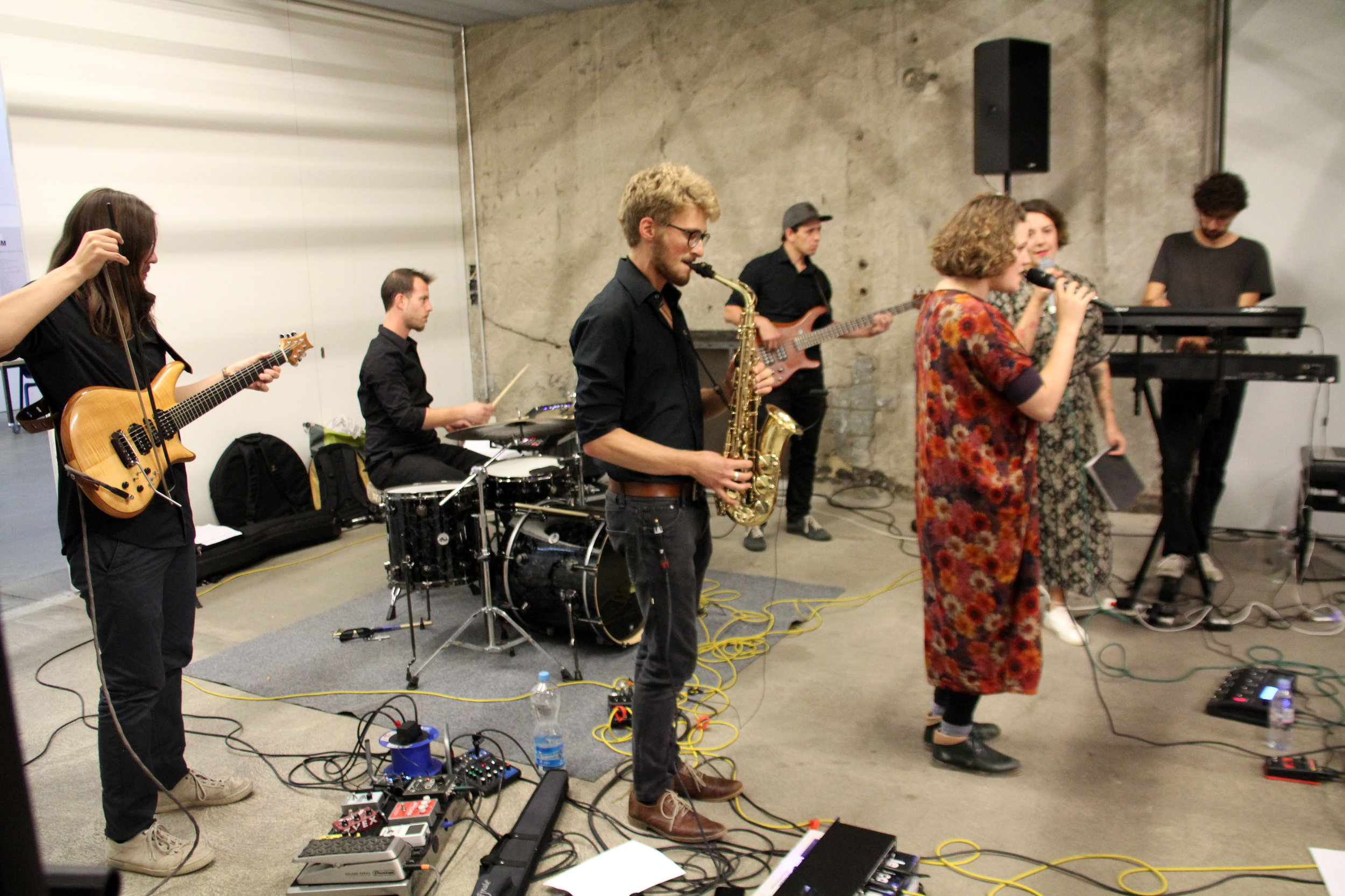 "Band ""Waiting Line"" (Berne) at opening reception"