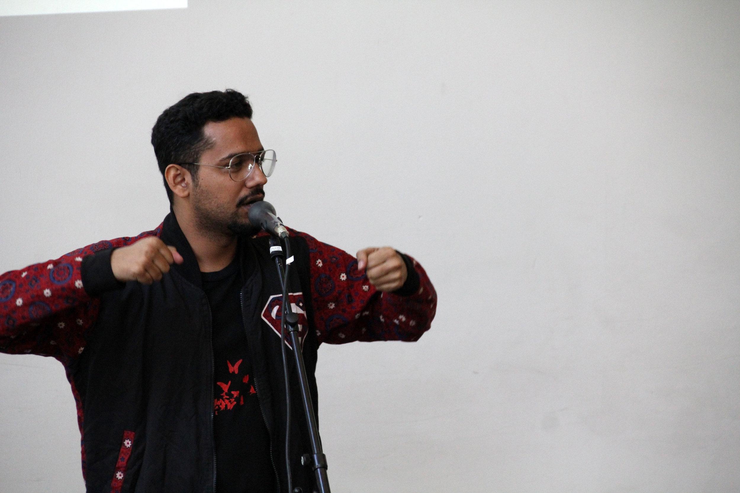 Artistic Intervention Ali Gul Pir (Karachi)