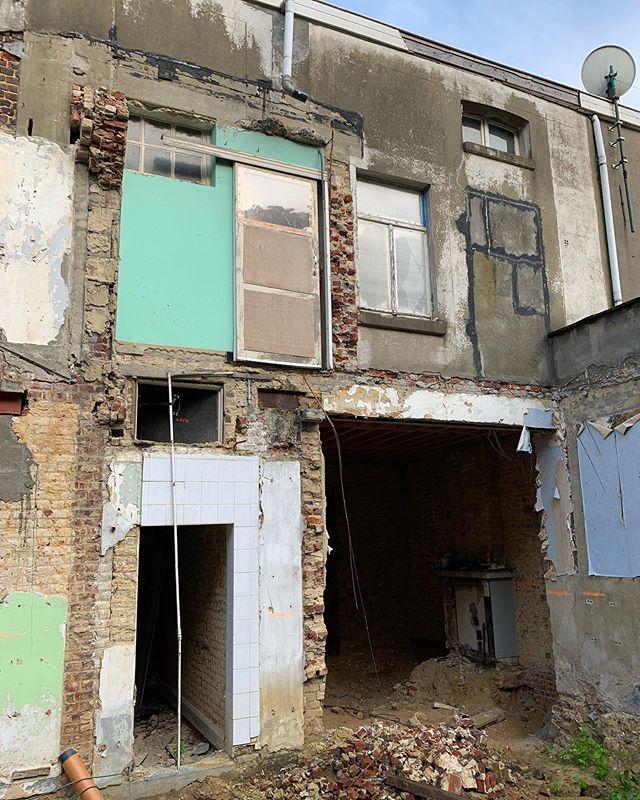 #construction #constructionsite #renovation #demolition #art #architecture #architect #architectuur #verbouwen #belgianarchitect #belgium #joar