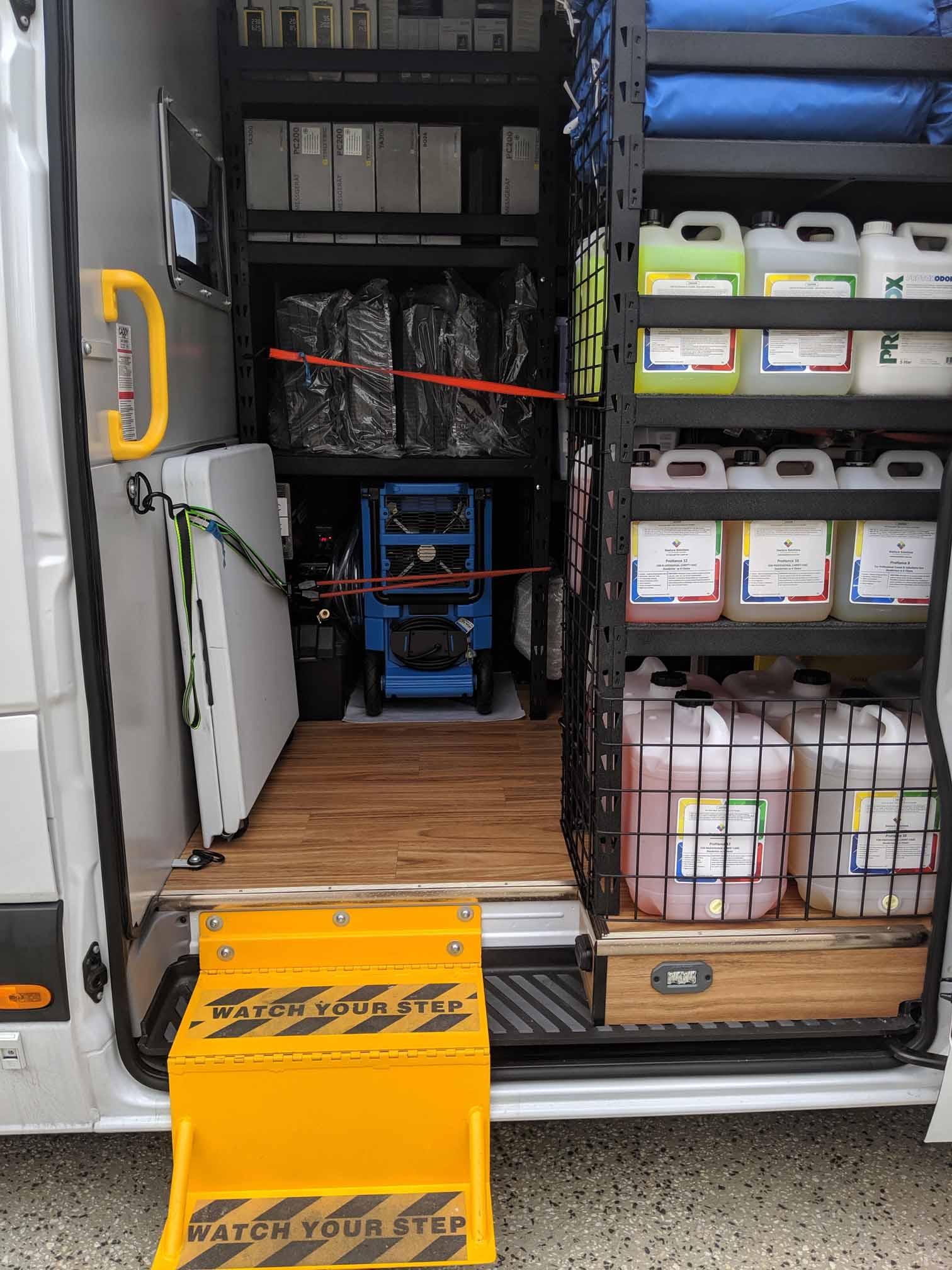 Restore Solutions Australia - Mobile Showroom - inside Trotec moisture meters.jpg