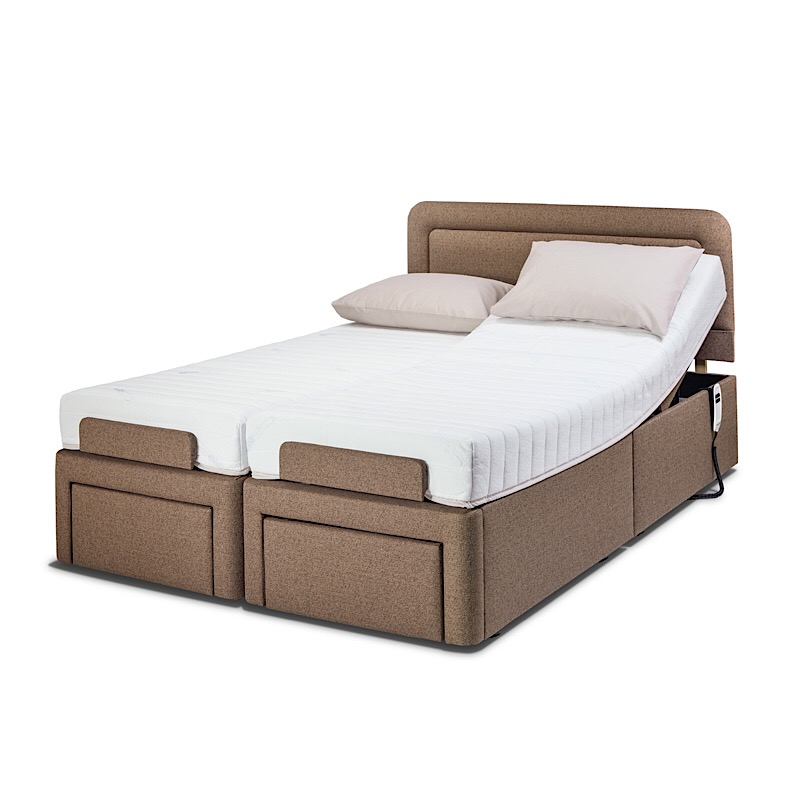 Double size adjustable bed