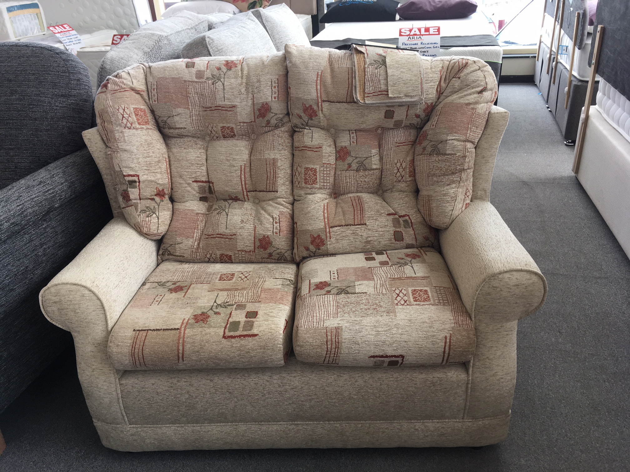 Windsor Two Seater Fabric Sofa    Was: £599.95   Sale 1/2 Price Offer : £299.95