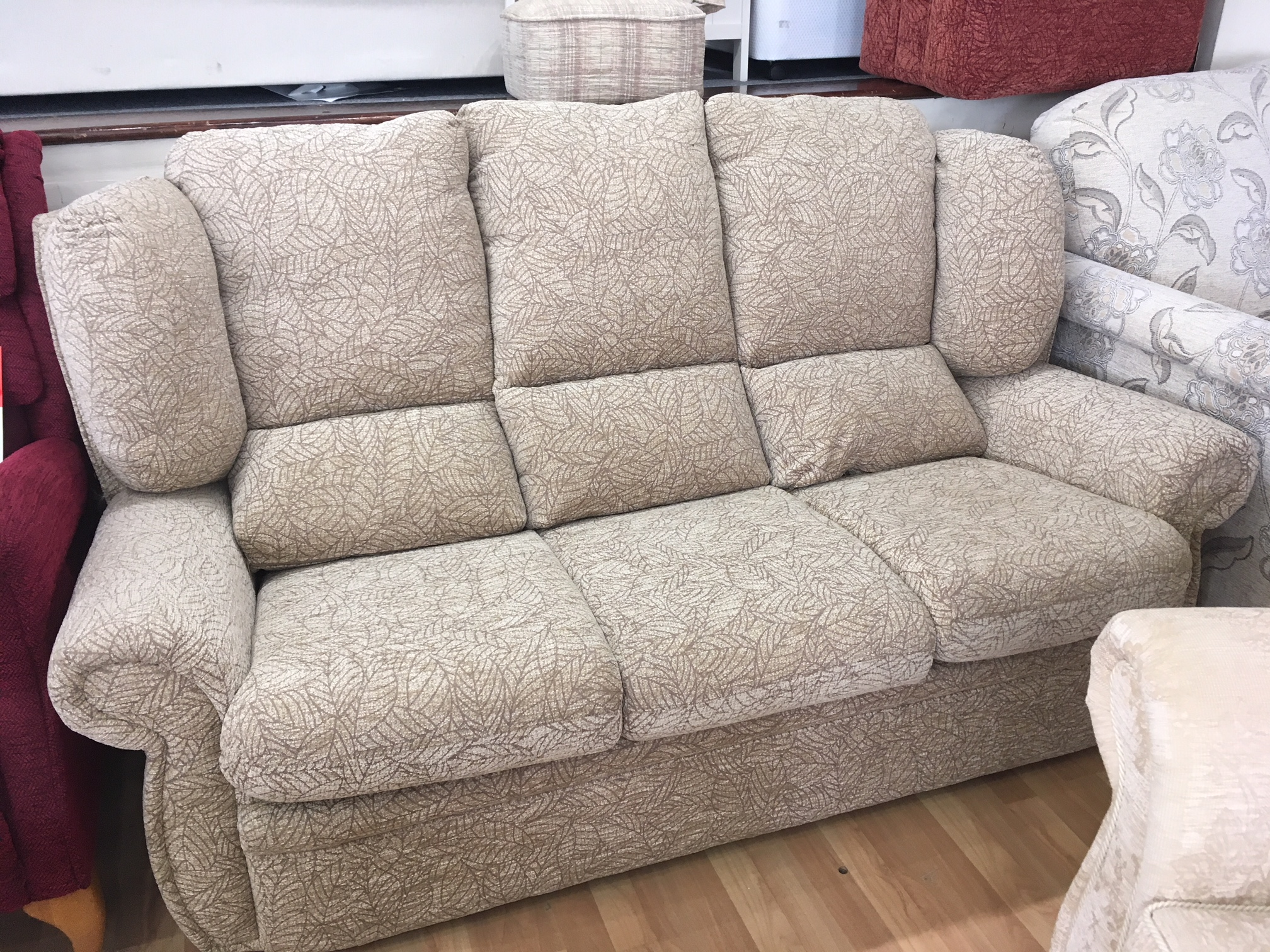 Victoria   Three Seater Fabric Sofa   Was: £899.00  Sale 1/2 Price Offer : £445.00