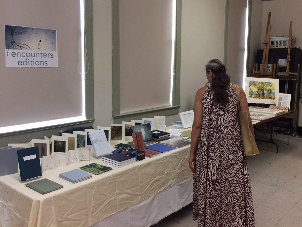 Encounters Editions at Honolulu Print & Book Fair in 2017. Honolulu, Hawaii.