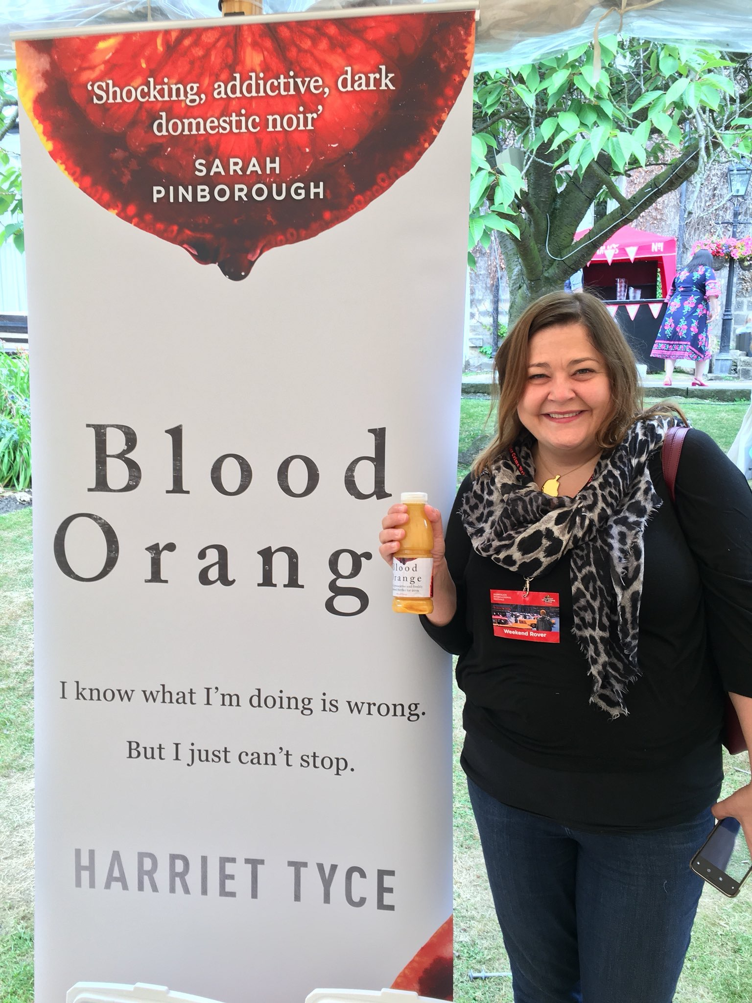 Blood Orange branded orange juice handed out on Saturday morning to combat hangovers...
