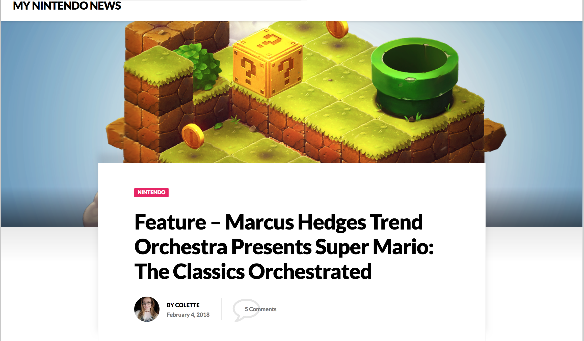 My Nintendo News: - 'Featuring some of the greatest thematic and overworld tracks from the first Super Mario Bros through to Super Mario 64, Trend Orchestra's rendition is bold, hitting all the right notes to evoke the pleasurable platforming nostalgia from the '80s and '90s.'