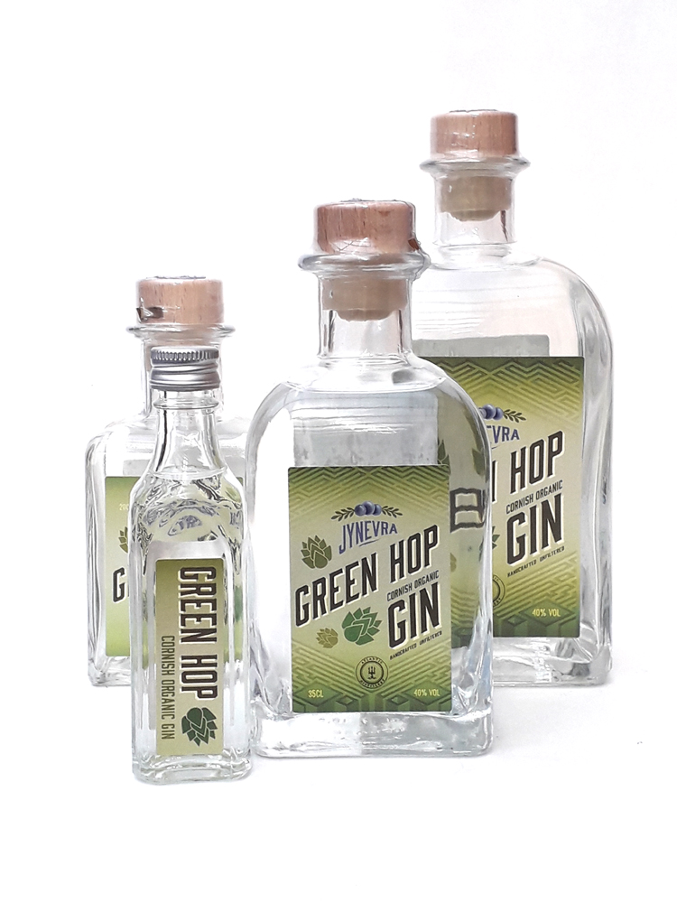 JYNEVRA GREEN HOP   Beautifully fresh floral and citrus hop notes permeate the gin. We only make this gin in early September when our hops are picked fresh from the vine. Last few bottles now remaining!   Drink with any quality Indian tonic water and a slice of lemon and lime