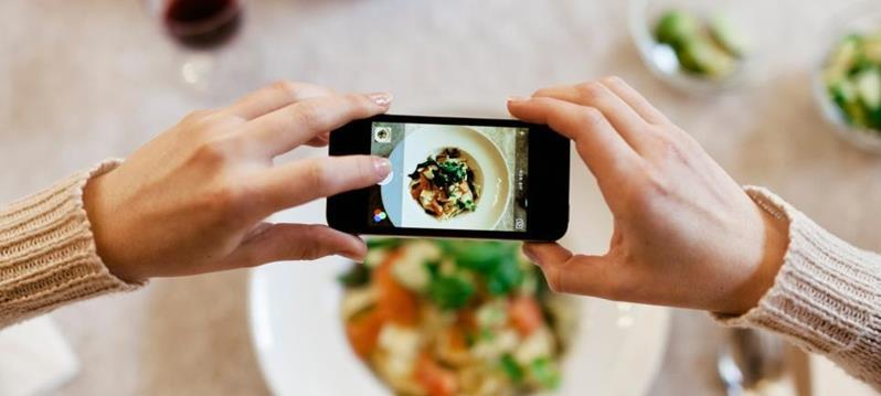 Smart phone food photograph