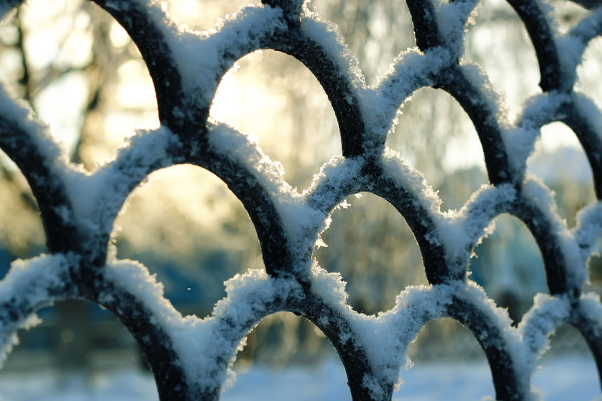 Close up of frosted black railing .jpg
