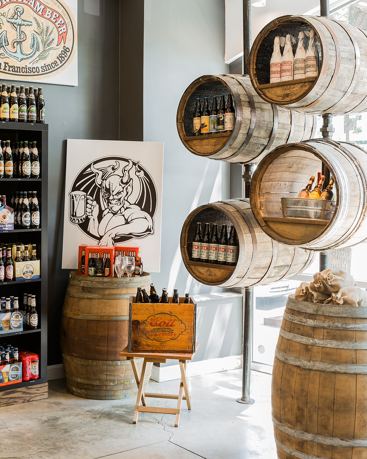 Craft beer cellar -