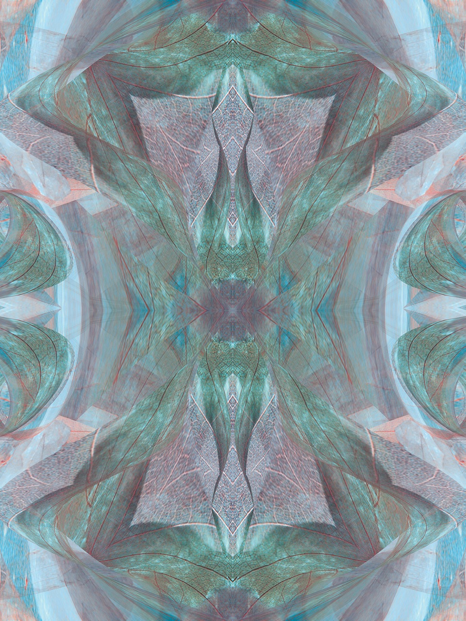 MF Papillon de nuit abstracted turquoise