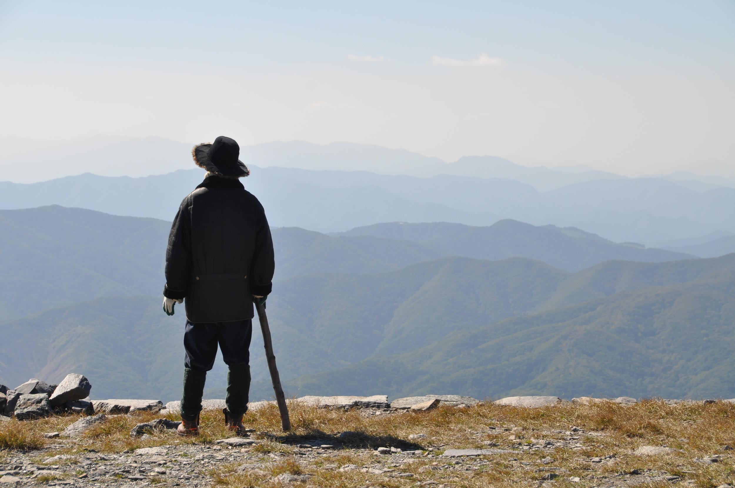 Ett av mange motiver fra våre fjellturer. Ja, det er vakker natur også i Sør-Korea.