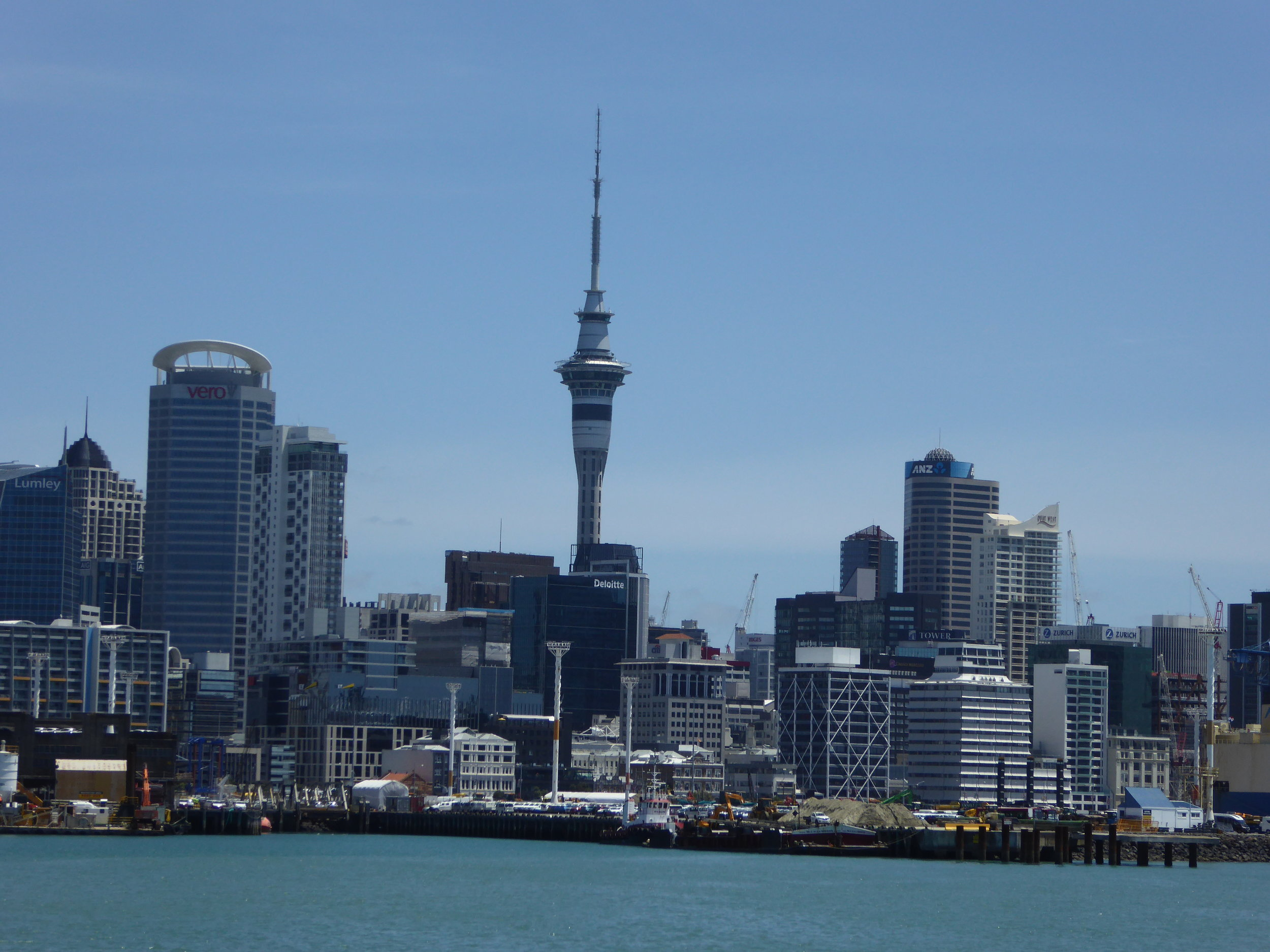 Auckland City, our view while on the boat.