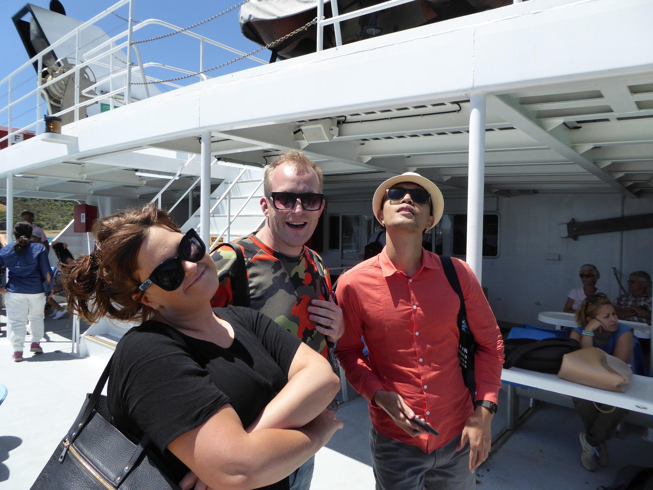 Reunited! Bianca, Kaleb and Girard.