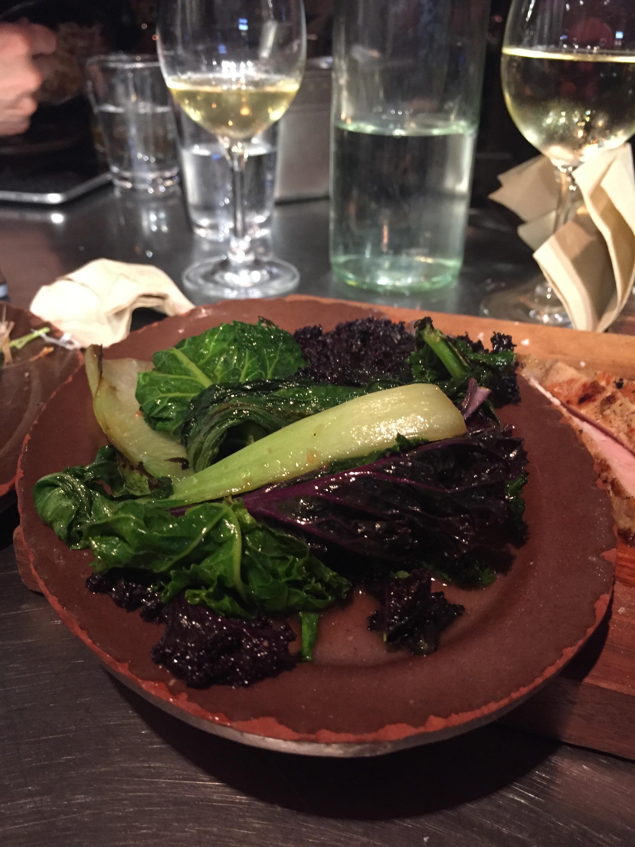 Stir fried Cornish greens & soy