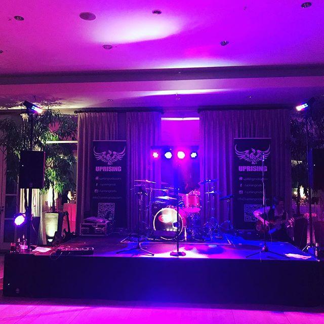 Boom! Here we go second set!!! #uprisingband #rockband #coverband #wedding